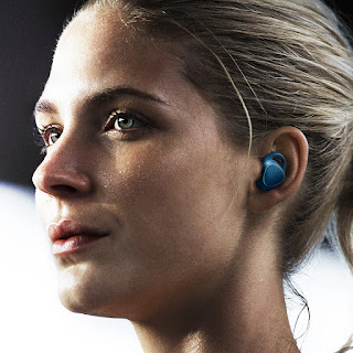 Samsung Gear IconX in use