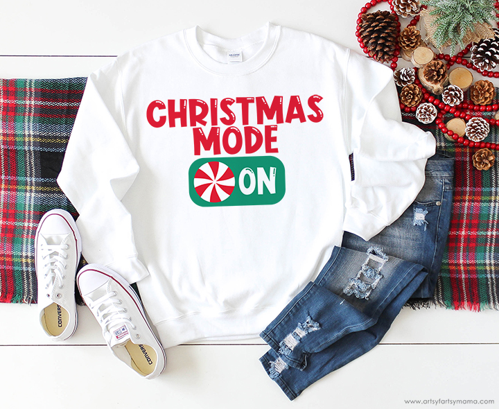 Christmas Mode Shirt with Free Cut File