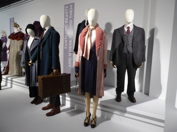 Fantastic Beasts movie costume exhibit