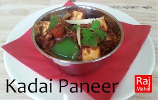 Kadai Paneer: indischer Käse in einer würzigen Mischung mit Tomaten, Zwiebeln, Knoblauch und Ingwer