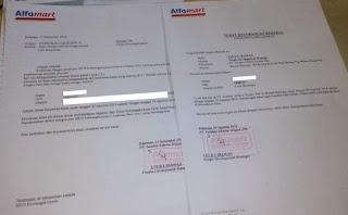 Contoh Surat Paklaring Alfamart 2020 PT Sumber Alfaria Trijaya