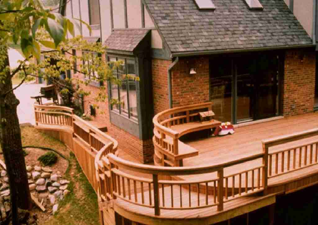 Patio Deck Railing Design: February 2012 on Patio With Deck Ideas id=61574
