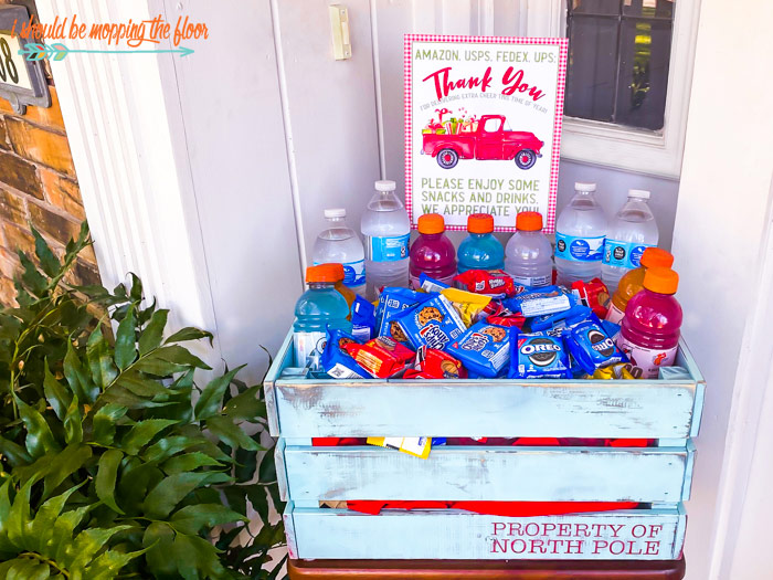 Snacks, Drinks, Ideas for Thanking Delivery Drivers