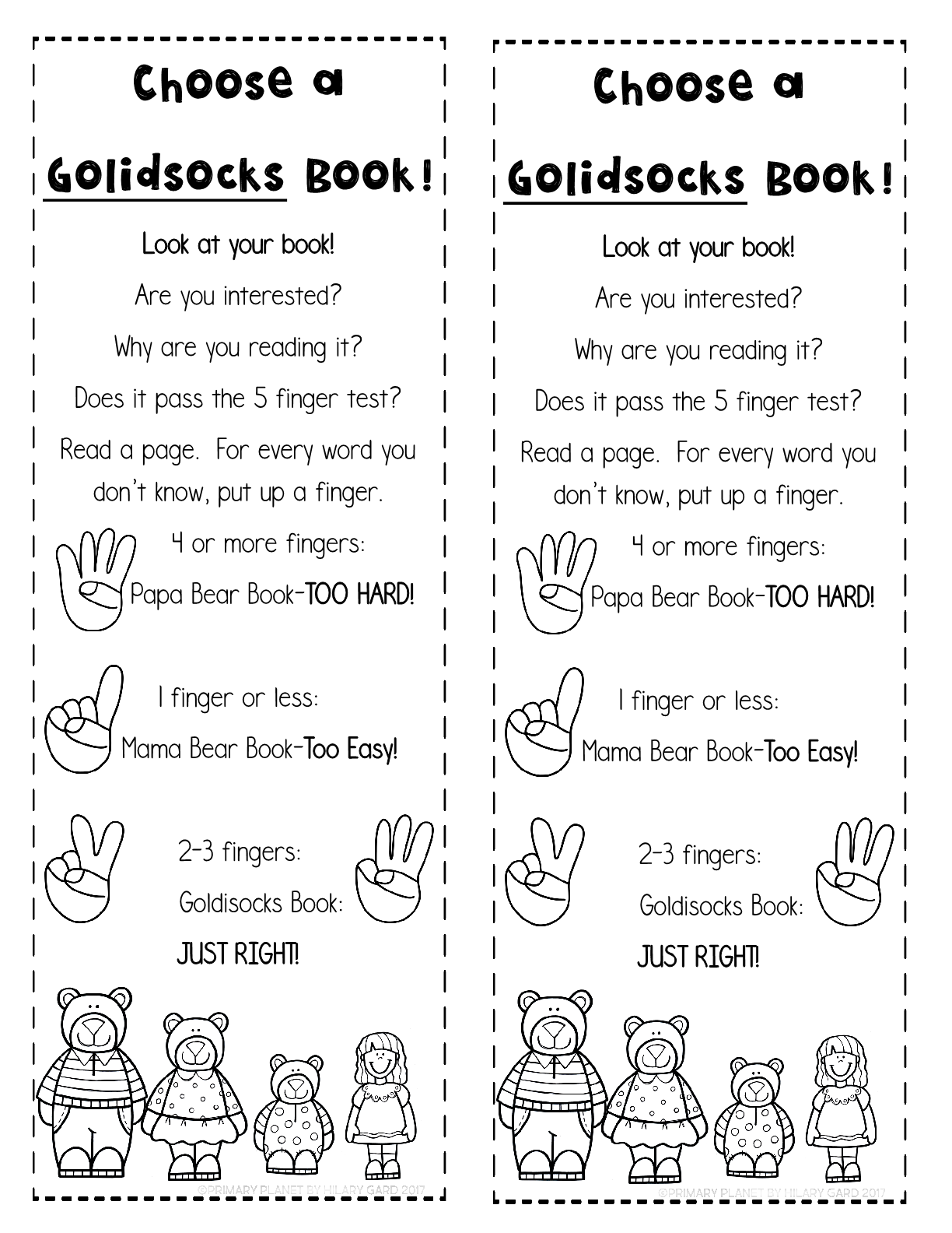 Mentor Text for Teaching Just Right Books : Goldi Socks and the Three Libearians