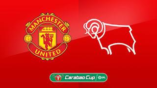 مباراه مانشستر يونايتد وديربي كاونتي اليوم 25-9-2018 في كأس رابطة الأندية الإنجليزية