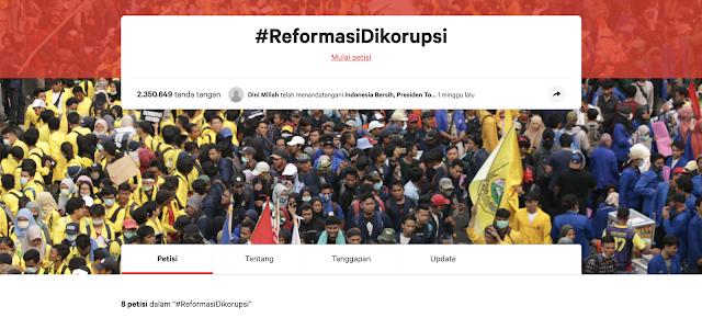 Gerakan Demokrasi dan Anti Korupsi Terpopuler di Platform Change.org Tahun 2019