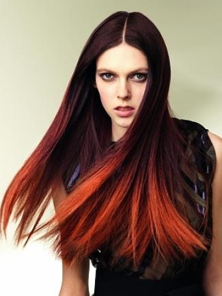 Natural Red Balayage Hair