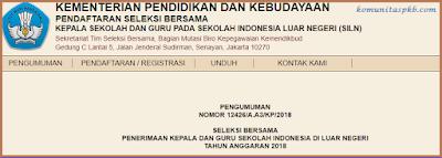 Pendaftaran Seleksi Bersama Calon Kepala Sekolah dan Guru di Sekolah Indonesia Luar Negeri Tahun 2018