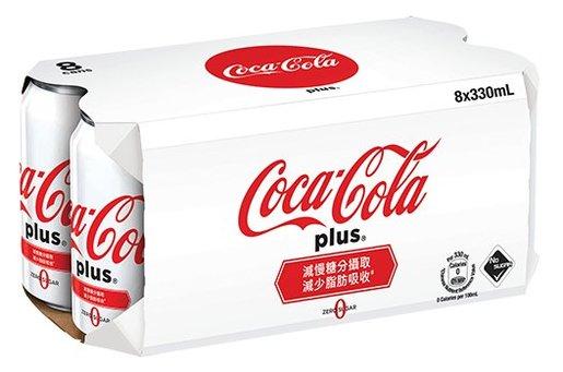 可口可樂 - Plus無糖膳食纖維(白色可樂)-