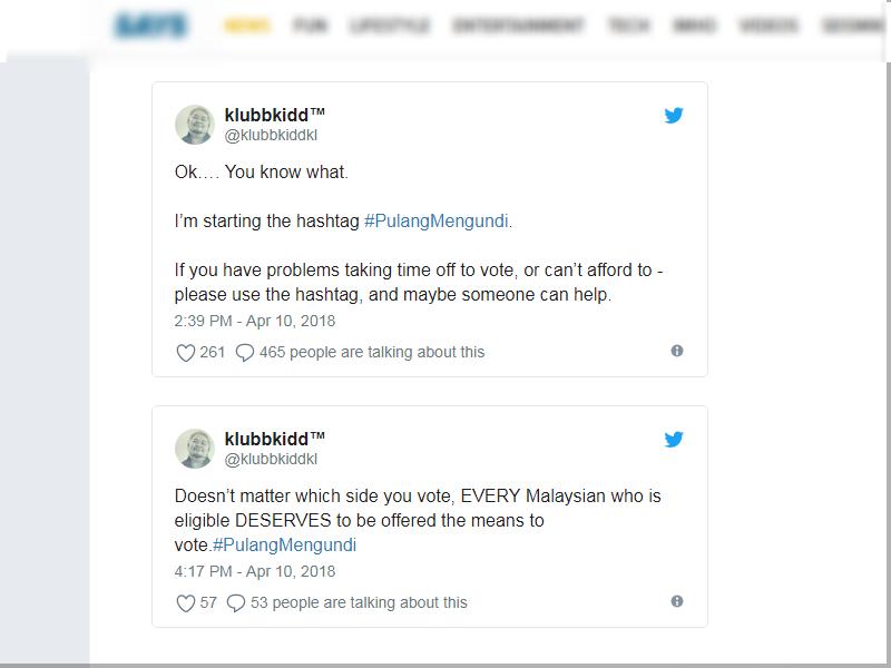 #PulangMengundi Harapan Netizen Bantu PRU14