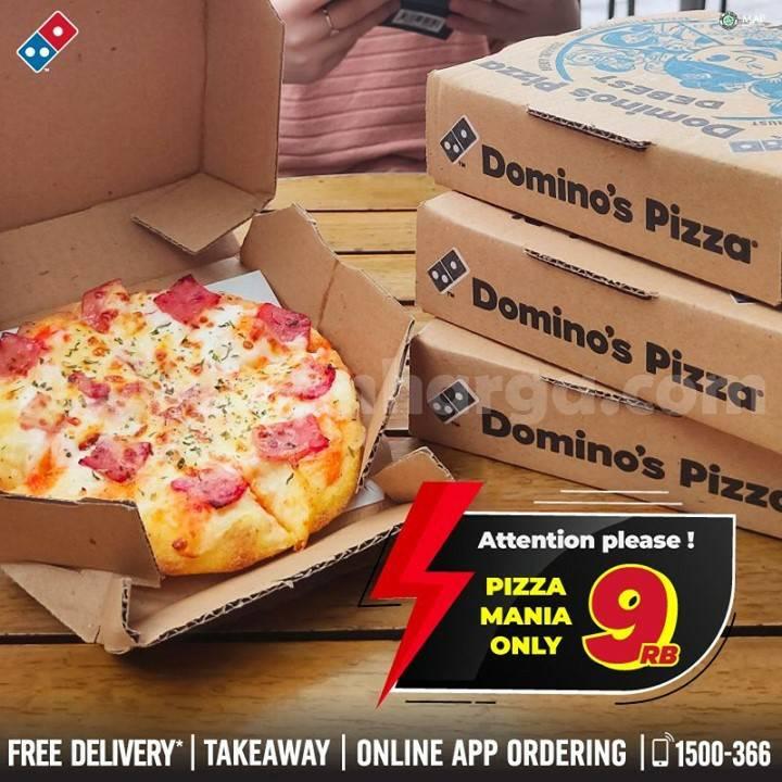 Promo Domino's Pizza Super Weekend Deal: Pizza Mania Harga cuma Rp 9ribu*
