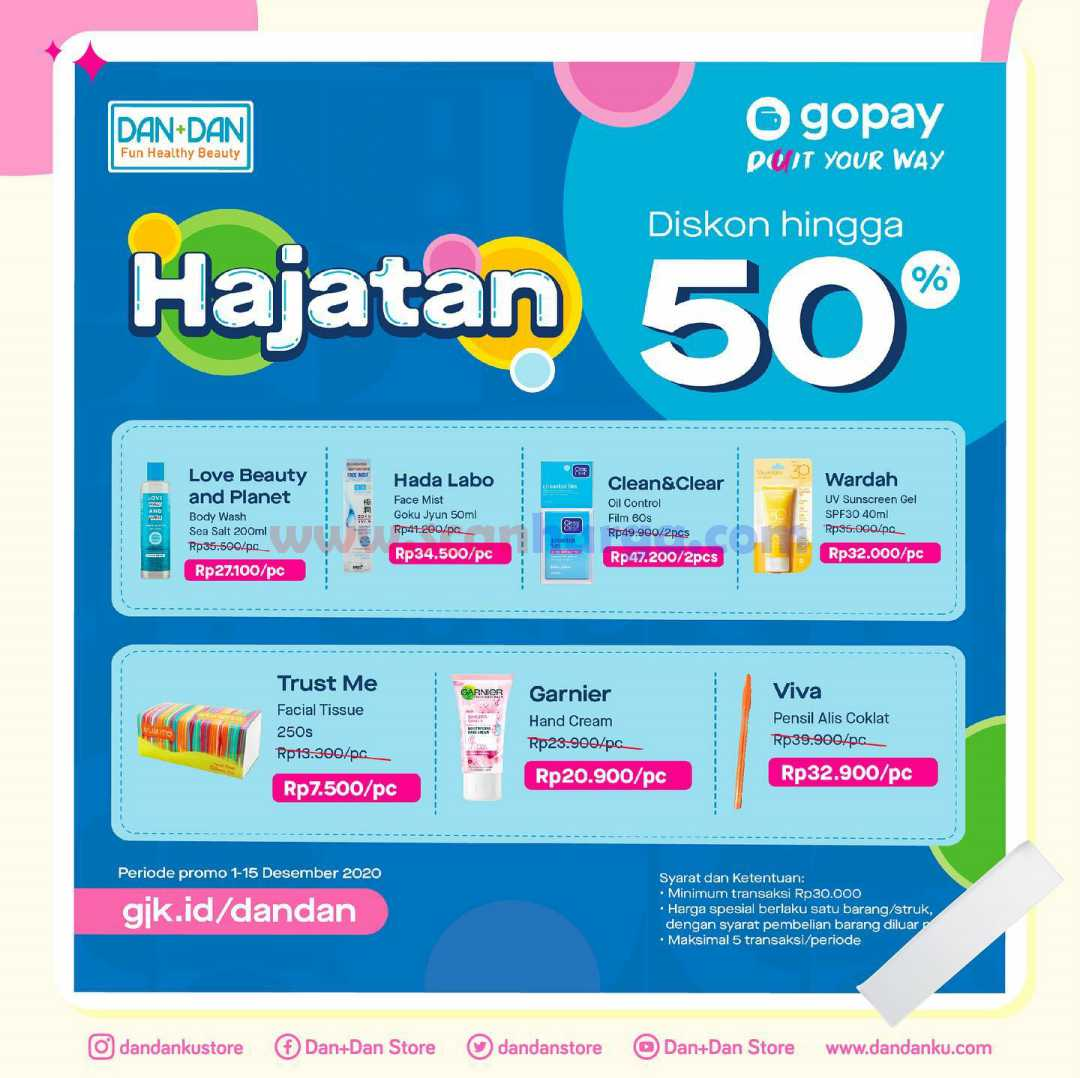 Promo DANDAN GoPay Diskon 50% Periode 1 - 15 Desember 2020