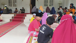 """Minta Berkah, Ratusan Anak Yatim dan Relawan """"PAS"""" Gelar Doa dan Dzikir di Gedeng Gede"""