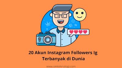 20 akun Instagram followers ig terbanyak di dunia