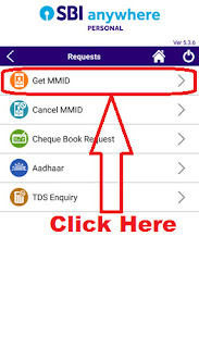 how to generate mmid for online sbi account