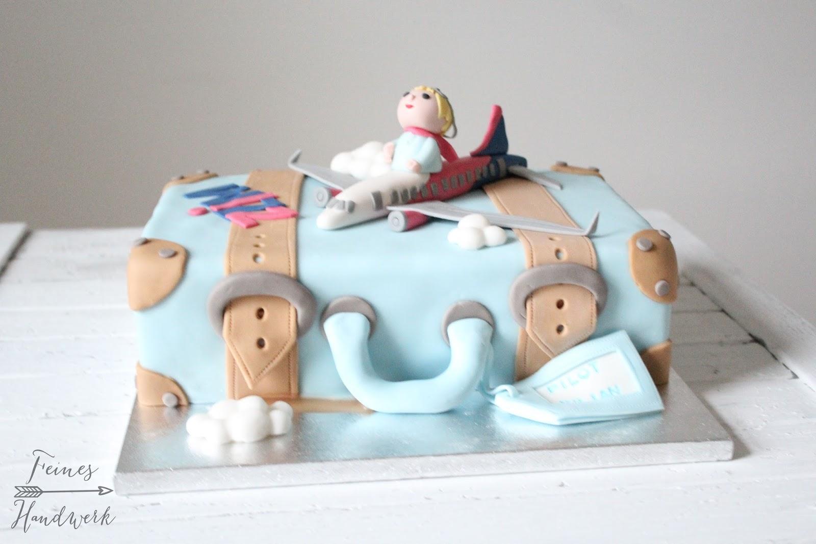 Feines Handwerk Kleine Koffer Torte zum 7 Geburtstag