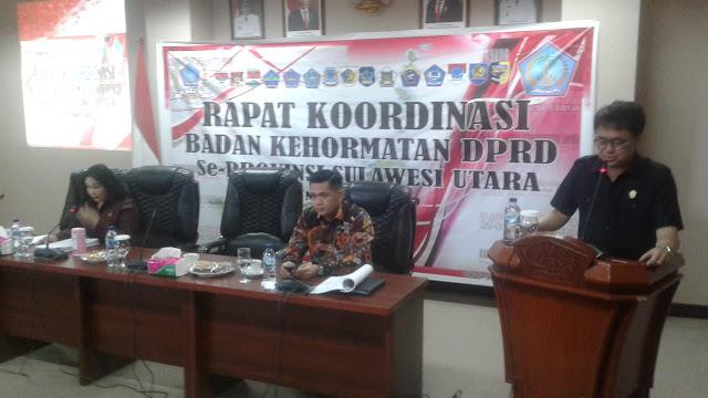 Badan Kehormatan DPRD Se Sulut Gelar Rapat Koordinasi