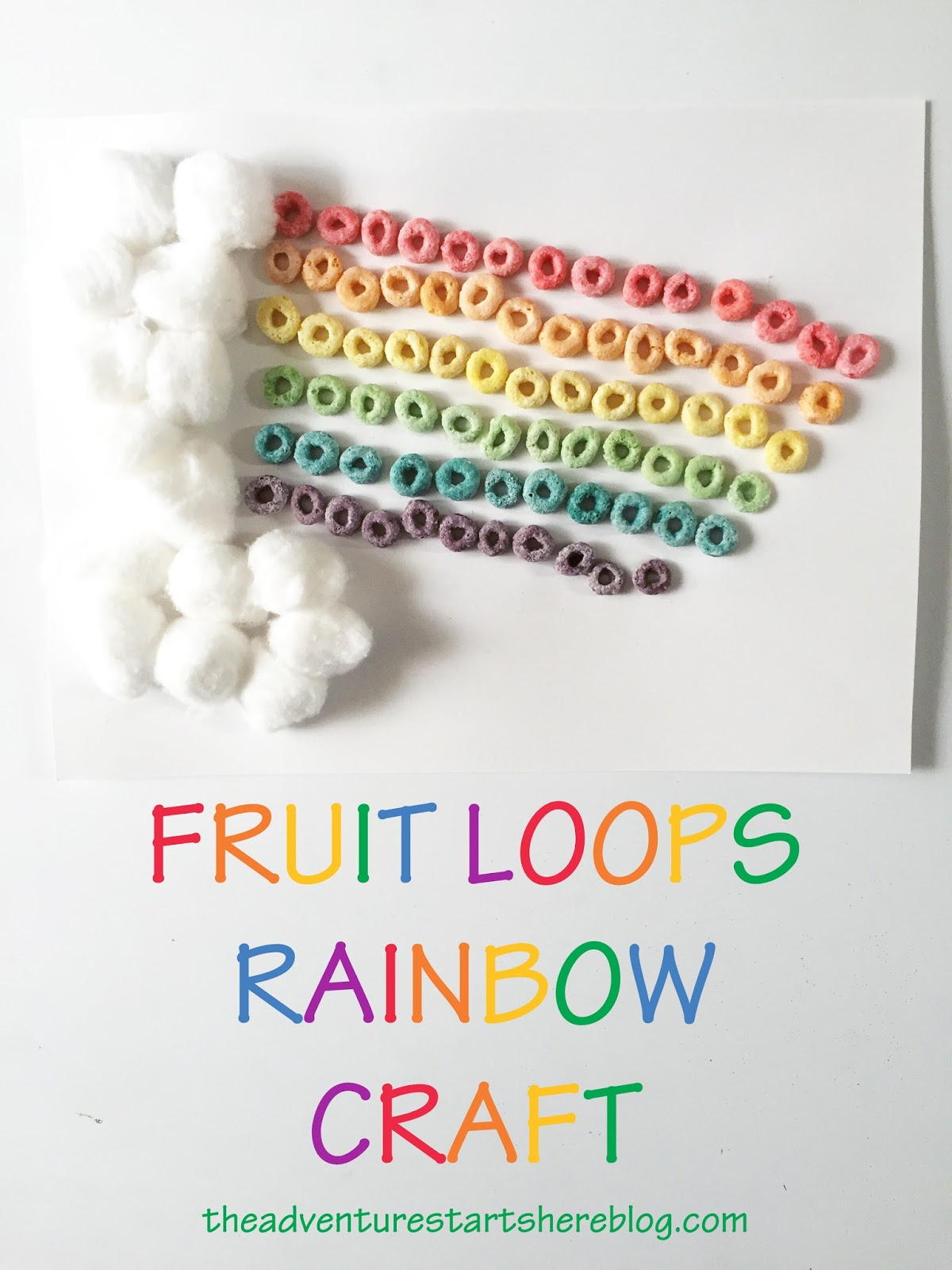 The Adventure Starts Here Fruit Loops Rainbow