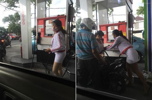 Heboh Petugas SPBU Seksi di Bali