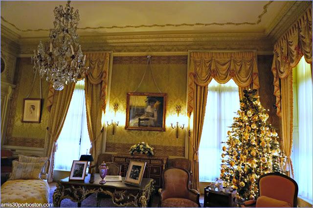 Dormitorio de la Señora Berwind en la Mansión The Elms en Newport