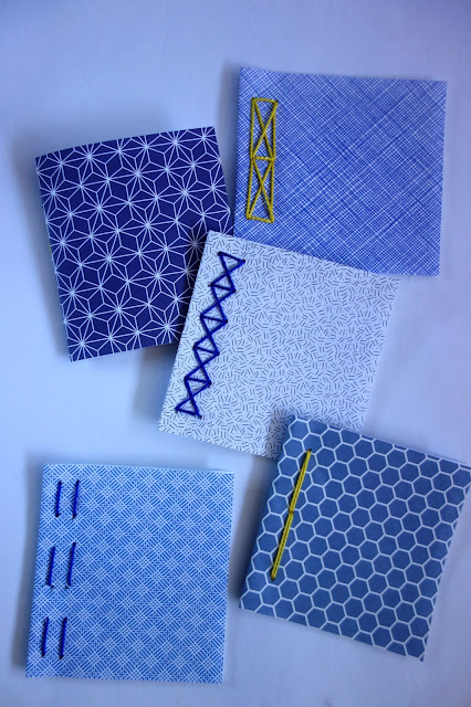 sewing, bookbinding, security envelopes, how to recycle paper, blue notebooks
