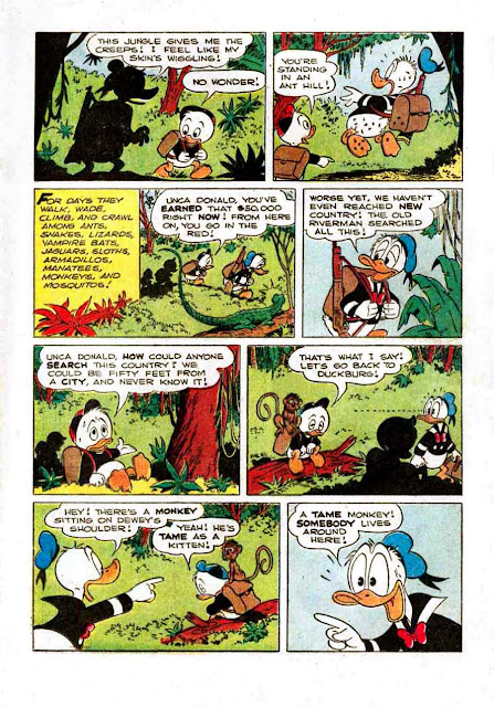 Donald Duck / Four Color Comics v2 #422 - Carl Barks 1940s comic book page art