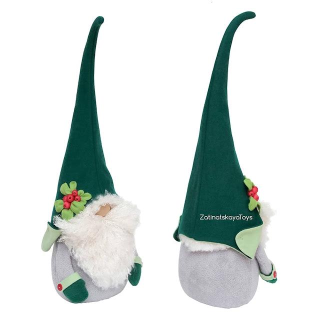 two plush Nordic Christmas gnomes by sewing patterns of Zatinatskaya Natalia