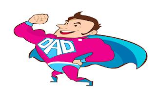 Disegno colorato papà supereroe