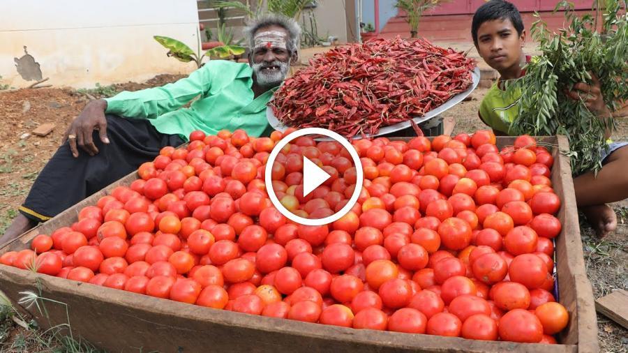Yummy !!! Tomato pickle Prepared by my Daddy Arumugam / Village food factory