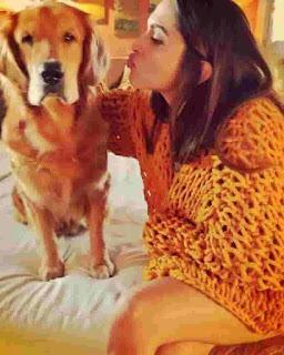 Deepika Padukone With Dog