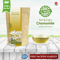 Teh Bunga Chamomile Herbal Relaksasi kaya Antioksidan
