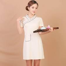 May Đồng Phục Spa Kiểu Váy Liền Thân Duyên Dáng - DSP0002