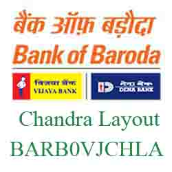 Vijaya Baroda Bank Chandra Layout Branch New IFSC, MICR