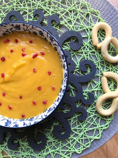 crema de calabaza con mango receta
