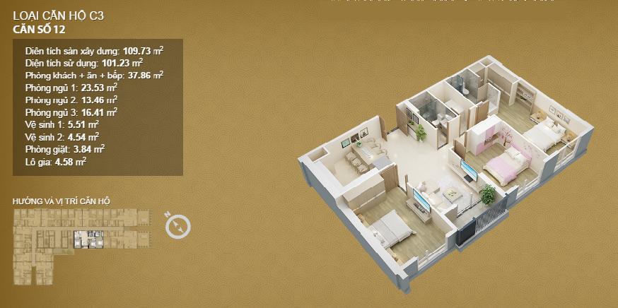 Căn hộ 12 tầng 33