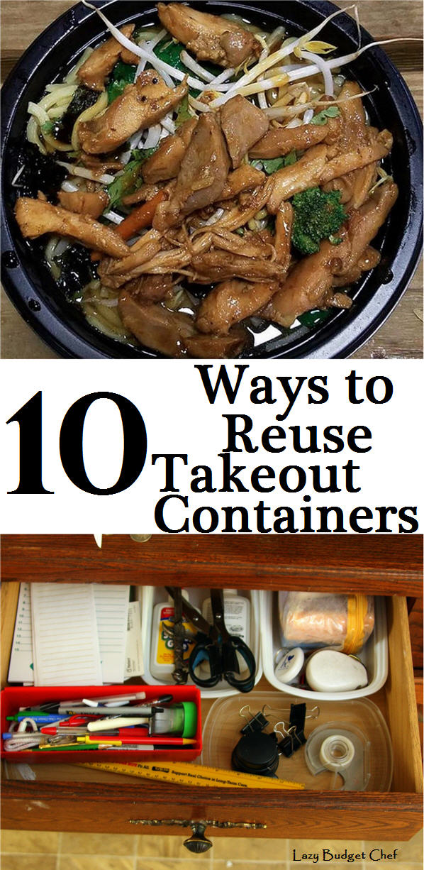 how to recycle plastic takeout containers