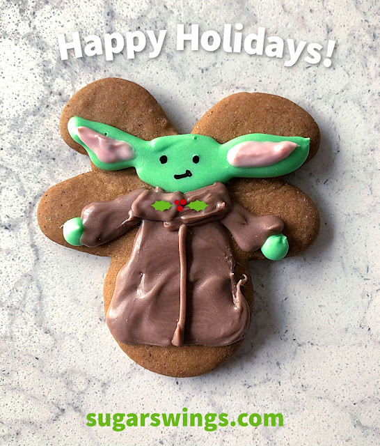 baby yoda gingerbread cookie