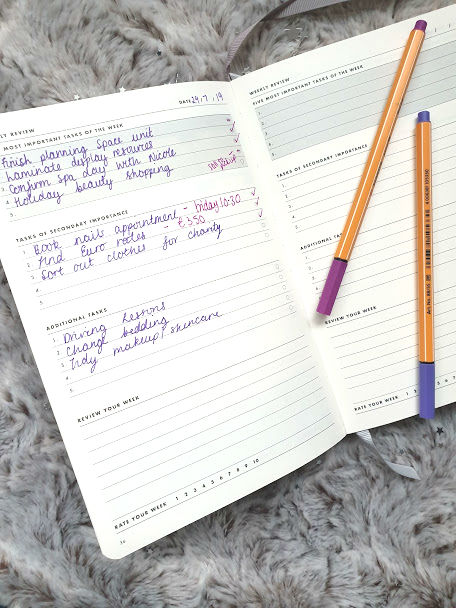 weekly goal setting planner