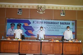 Bupati Lombok Utara Buka FPD Penyusunan Renja 2022