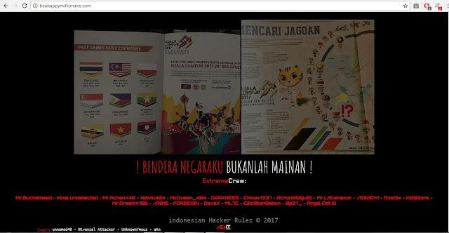 Bikin Merinding, Lagu Indonesia Pusaka Berkumandang di Website Malaysia yang Kena Hack