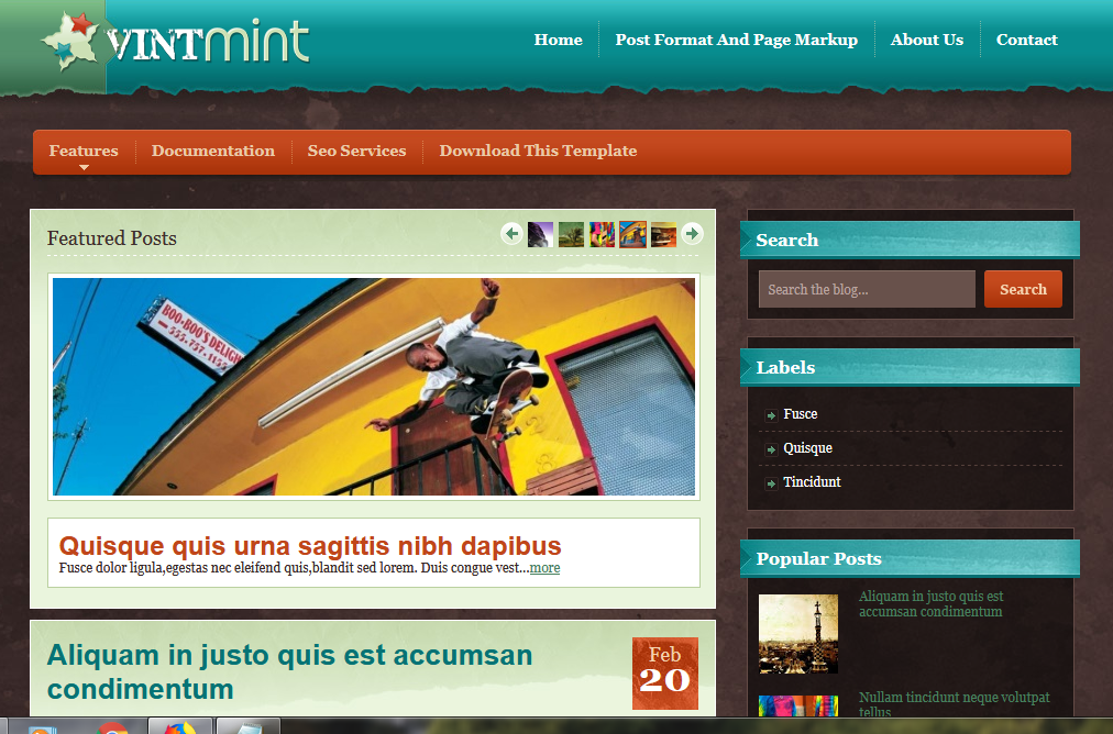 VintMint Blogger Template