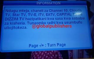 King'amuzi cha Azam Chaziondoa Chaneli Zote za Ndani ya Nchi Ikiwemo CLOUDS TV, TV-E, ITV', EATV
