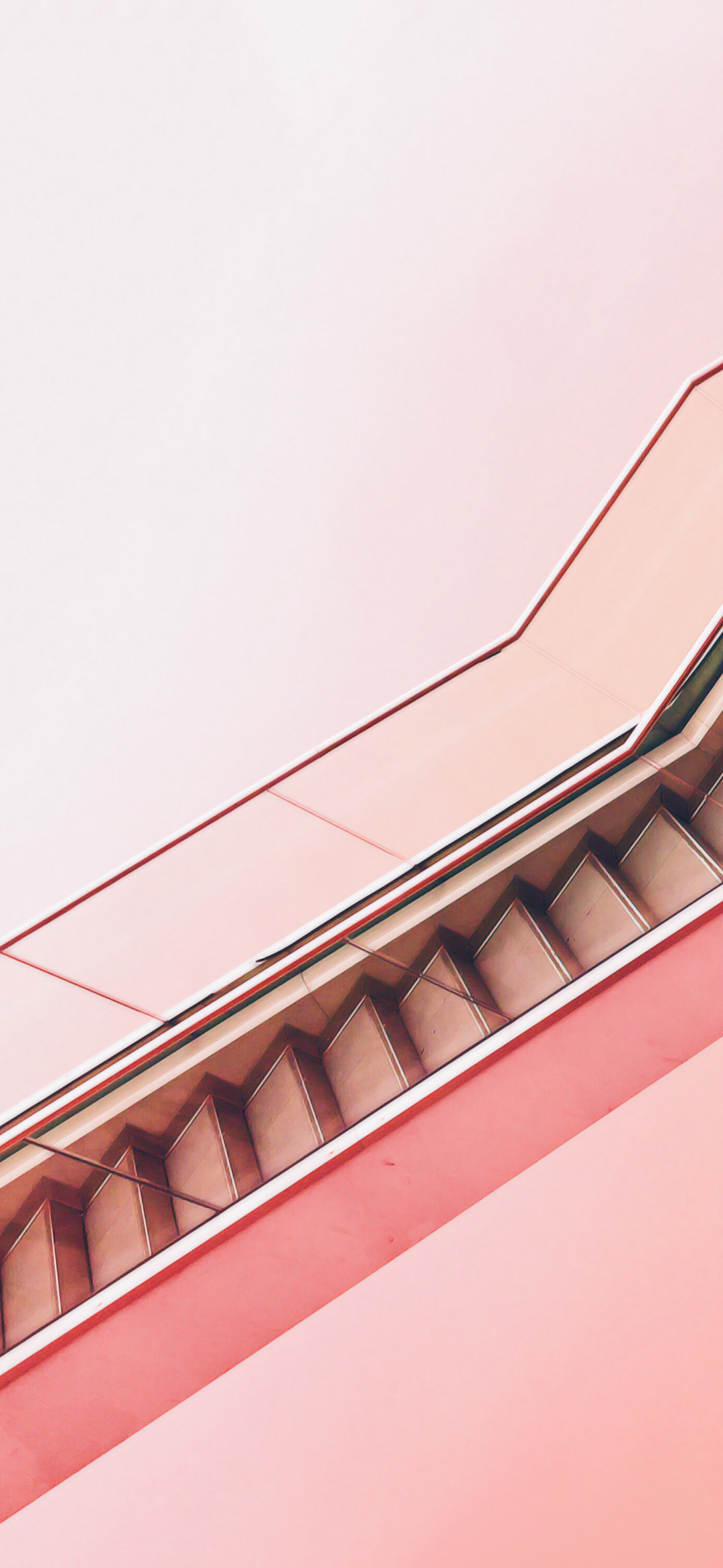 cool abstract peach color stairs wallpaper