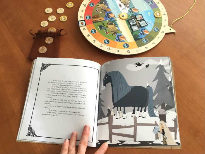 """cuento infantil  """"El invierno de Escandia"""" + calendario anual montessori waldorf"""