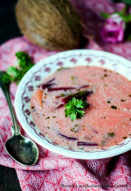 botwinka, zupa, mleczko kokosowe, zupa, obiad, bernika, kulinarny pamietnik