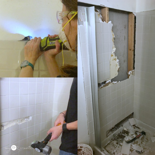 How to easily remove tile and drywall from a shower