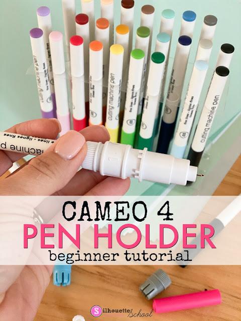 silhouette 101, silhouette america blog, cameo 4, pen holder, silhouette pen holder, cameo 4 tools