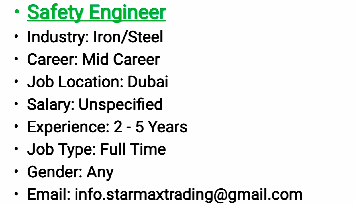 NEW JOB UPDATES - DUBAI - APPLY NOW - Career Opportunities4you