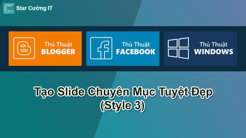 Tạo Slide Chuyên Mục Tuyệt Đẹp (Style 3)