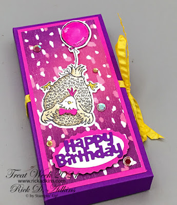 Treat Week Day 5 project features the Hey Birthday Chick Bundle.  Click here to learn more